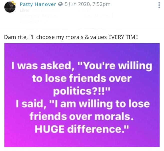 Politics vs Morals